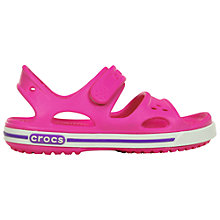 Buy Crocs Children's Crocbands Sandals, Neon Magenta Online at johnlewis.com