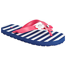 Buy John Lewis Nautical Daisy Flip Flops, Navy/Pink Online at johnlewis.com
