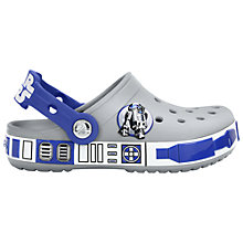 Buy Crocs Children's Stars Wars R2D2 Sandals, Light Grey/Cerulean Blue Online at johnlewis.com