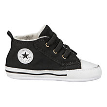 Buy Converse Baby All Star Chuck Taylor Trainers, Black Online at johnlewis.com