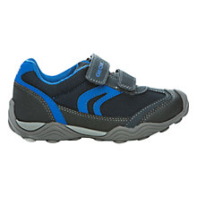 Buy Geox Arno Twin Rip-Tape Trainers, Navy/Blue Online at johnlewis.com