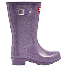 Buy Hunter Children's Glitter Wellington Boots, Dusty Lavender Online at johnlewis.com