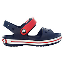 Buy Crocs Children's Crocband Grip Sandals, Navy/Red Online at johnlewis.com