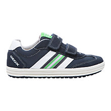 Buy Geox Vita Twin Rip-Tape Trainers, Navy/Lime Online at johnlewis.com