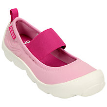 Buy Crocs Children's Busy Day MJ Shoes, Carnation/Coral Online at johnlewis.com