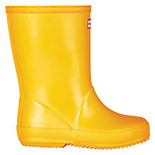 Buy Hunter Children's First Gloss Wellington Boots, Dandelion Online at johnlewis.com