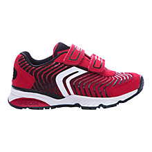 Buy Geox Bernie Twin Rip-Tape Trainers, Red/Black Online at johnlewis.com