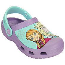 Buy Crocs Children's Frozen Clogs, Iris Online at johnlewis.com