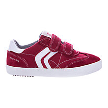 Buy Geox Kiwi Twin Rip-Tape Trainers, Red/White Online at johnlewis.com