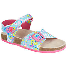Buy John Lewis Ditsy Buckle Sandals, Turquoise/Multi Online at johnlewis.com
