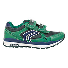 Buy Geox Pavel Twin Rip-Tape Trainers, Green/Blue Online at johnlewis.com