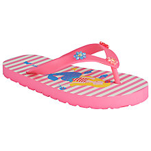 Buy John Lewis Mermaid Striped Flip Flops, Pink Multi Online at johnlewis.com