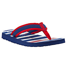 Buy John Lewis Pirate Stripe Flip Flops, Navy/Red Online at johnlewis.com