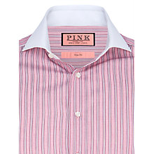 Buy Thomas Pink Haden Stripe Shirt, Red/White Online at johnlewis.com