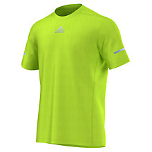 Buy Adidas SQ CC Running T-shirt, Solar Slime Online at johnlewis.com