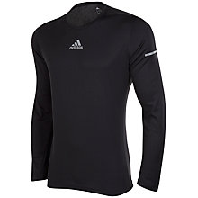 Buy Adidas Run Long Sleeve Running T-Shirt, Black Online at johnlewis.com