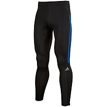 Buy Adidas Response Long Running Tights, Black/Bright Royal Online at johnlewis.com