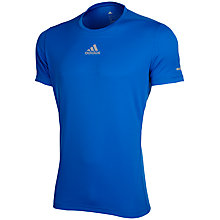 Buy Adidas SQ CC Running T-Shirt, Bright Royal Online at johnlewis.com