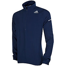 Buy Adidas Sequencials Climaproof Run Anorak, Navy Online at johnlewis.com