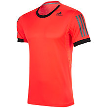 Buy Adidas Supernova Short Sleeve T-Shirt, Solar Red/Black Online at johnlewis.com