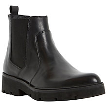 Buy Dune Pallano Leather Chelsea Boots, Black Online at johnlewis.com