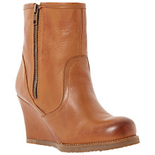 Buy Dune Paunup Leather Wedged Ankle Boots Online at johnlewis.com