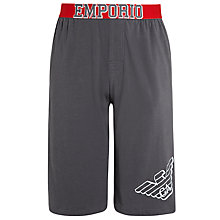 Buy Emporio Armani Eagle Lounge Shorts, Grey Online at johnlewis.com