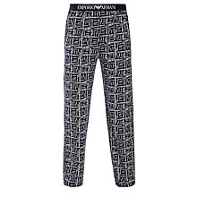 Buy Emporio Armani Logo Print Lounge Pants, Navy Online at johnlewis.com
