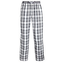 Buy Emporio Armani Check Lounge Pants, Black/White Online at johnlewis.com