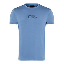 Buy Emporio Armani Stretch Cotton Logo T-Shirt, Blue Online at johnlewis.com
