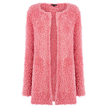 Buy Warehouse Fluffy Cardigan, Bright Pink Online at johnlewis.com