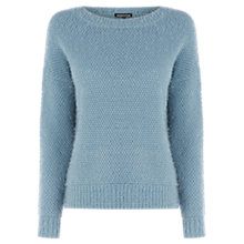 Buy Warehouse Simple Hairy Jumper, Light Blue Online at johnlewis.com
