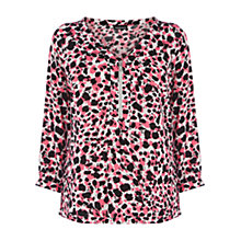 Buy Warehouse Blurred Animal Print Blouse, Multi Online at johnlewis.com