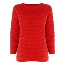 Buy Warehouse Bobble Stitch Jumper, Bright Red Online at johnlewis.com