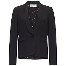 Buy Boutique by Jaeger Tux Style Blazer, Black Online at johnlewis.com