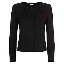 Buy Kaliko Tuck Detail Knitted Jacket, Black Online at johnlewis.com