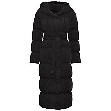 Buy Jaeger Shawl Collar Puffer Coat, Black Online at johnlewis.com