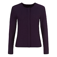 Buy Kaliko Knitted Jacket, Blackcurrant Online at johnlewis.com