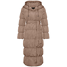 Buy Jaeger Shawl Collar Puffer Coat, Mole Online at johnlewis.com