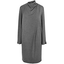 Buy Paisie Long Sleeve Pleated Neck Dress, Grey Online at johnlewis.com