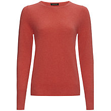 Buy Jaeger Cashmere Crew Neck Sweater, Coral Online at johnlewis.com