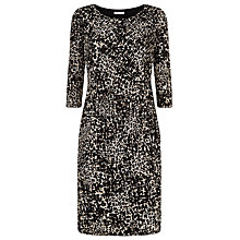 Buy Kaliko Animal Print Jersey Dress, Black Online at johnlewis.com
