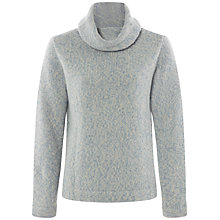 Buy Jaeger Heavy Gauge Cable Knit Sweater, Ice Blue/Panna Online at johnlewis.com