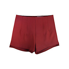 Buy Paisie Fitted Shorts, Burgundy Online at johnlewis.com