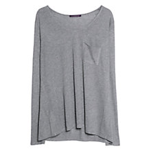 Buy Violeta by Mango Silk Blend T-Shirt, Medium Grey Online at johnlewis.com