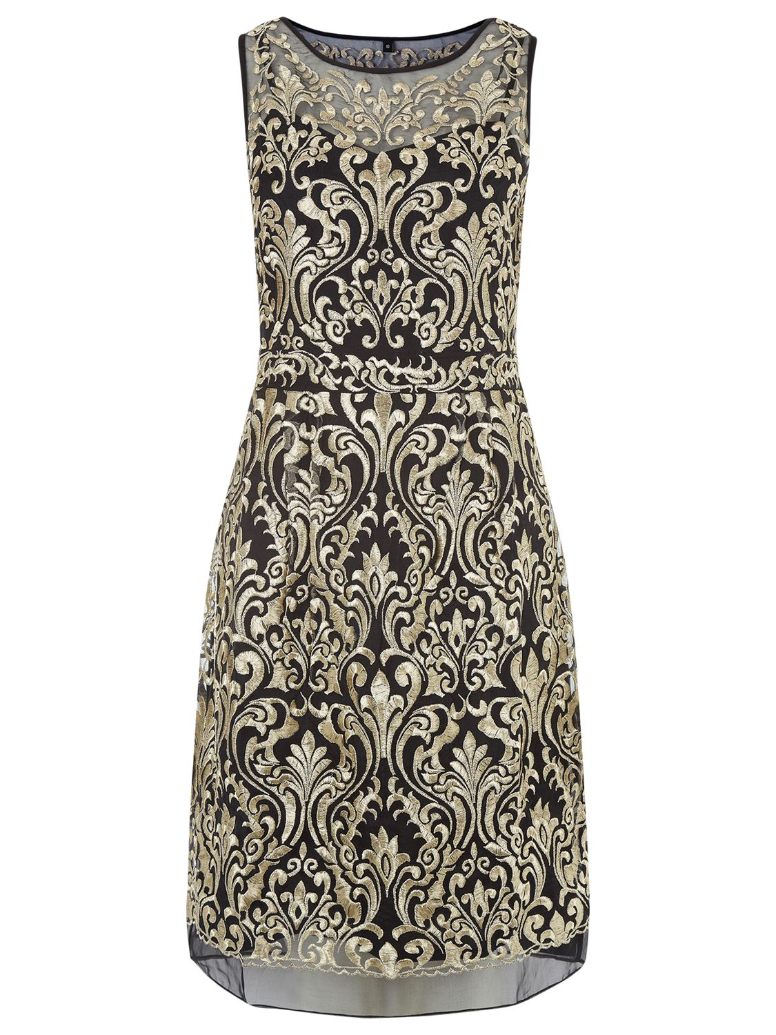 kaliko embroidered silk dress black / gold, kaliko, embroidered, silk, dress, black, gold, 8|18|16|10|14|12, clearance, womenswear offers, womens dresses offers, new years party offers, special offers, 20% off selected kaliko, women, inactive womenswear, new reductions, womens dresses, 1742128