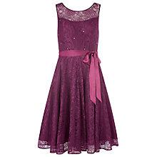 Buy Kaliko Bead and Lace Prom Dress, Berry Online at johnlewis.com