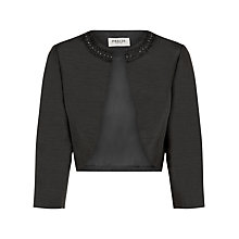 Buy Precis Petite Embellished Jacket, Black Online at johnlewis.com