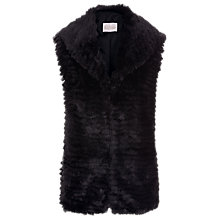 Buy Kaliko Faux Fur Gilet, Black Online at johnlewis.com