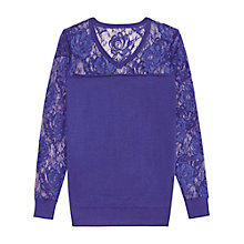 Buy Reiss Chloe Floral Lace Jumper Online at johnlewis.com